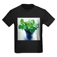 Basil plant - Kid's Dark T-Shirt