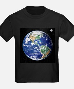 Earth from space, satellite image - Kid's Dark T-S