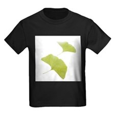 Maidenhair leaves (Ginkgo biloba) - Kid's Dark T-S