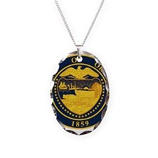 Seal of Oregon Necklace Oval Charm