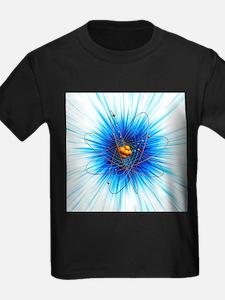 Atomic structure, artwork - Kid's Dark T-Shirt