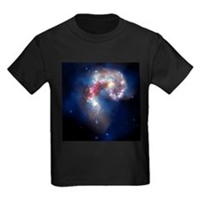 Antennae galaxies, composite image - Kid's Dark T-