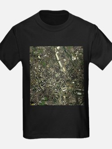Bradford, UK, aerial image - Kid's Dark T-Shirt