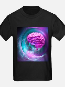 Brain research, conceptual artwork - Kid's Dark T-