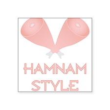"Hamnam Style Square Sticker 3"" x 3"""