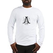 Annie: Fancy Monogram Long Sleeve T-Shirt