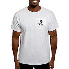 Annie: Fancy Monogram Ash Grey T-Shirt