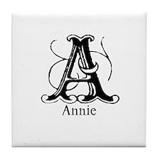 Annie: Fancy Monogram Tile Coaster