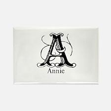 Annie: Fancy Monogram Rectangle Magnet