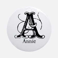 Annie: Fancy Monogram Ornament (Round)