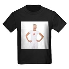Happy senior woman - Kid's Dark T-Shirt