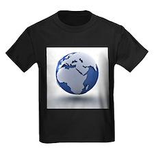 Globe, artwork - Kid's Dark T-Shirt