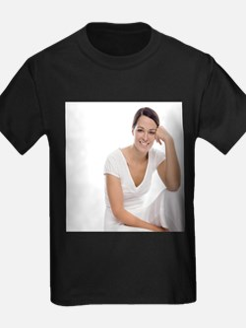 Healthy woman - Kid's Dark T-Shirt
