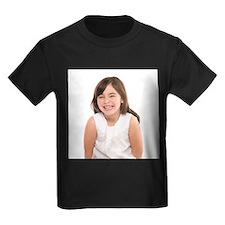 Happy girl - Kid's Dark T-Shirt