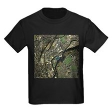 Huddersfield, UK, aerial image - Kid's Dark T-Shir