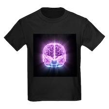 Human brain,computer artwork - Kid's Dark T-Shirt