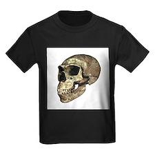 Neanderthal skull - Kid's Dark T-Shirt
