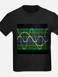 Sound wave, computer artwork - Kid's Dark T-Shirt