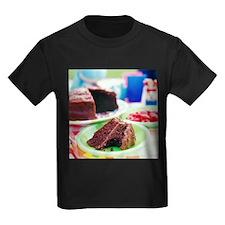Chocolate cake - Kid's Dark T-Shirt