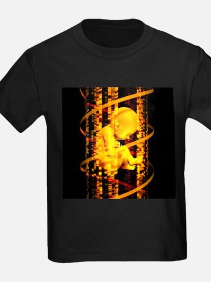 DNA and foetus - Kid's Dark T-Shirt
