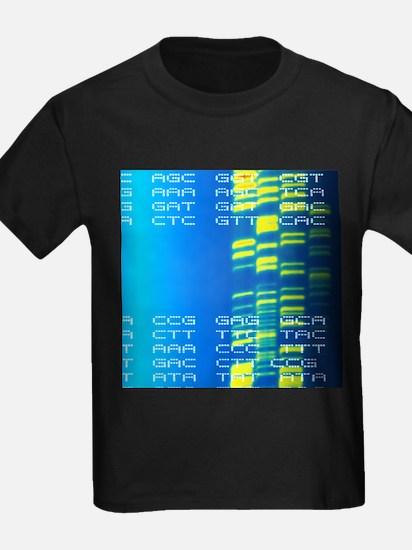 DNA autoradiogram and codons - Kid's Dark T-Shirt