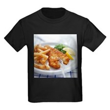 Fish and chips - Kid's Dark T-Shirt