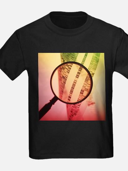 DNA sequencing - Kid's Dark T-Shirt