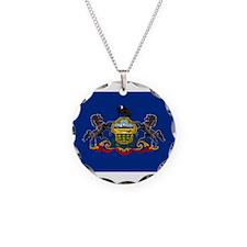 Flag of Pennsylvania Necklace Circle Charm