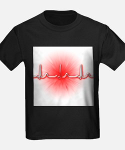 ECG of a normal heart rate - Kid's Dark T-Shirt