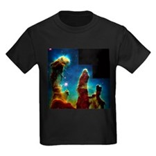 Gas pillars in Eagle Nebula - Kid's Dark T-Shirt