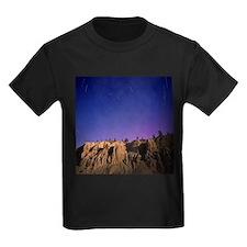 Star trails - Kid's Dark T-Shirt
