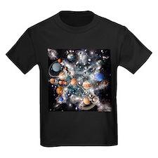 Solar system planets - Kid's Dark T-Shirt