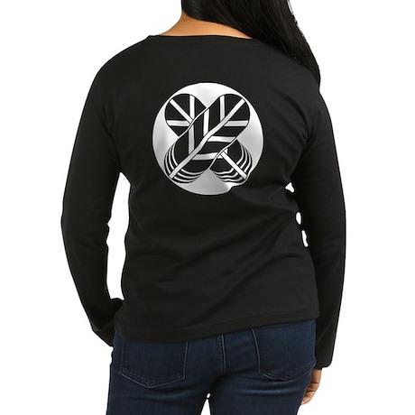 Shirakawa hawk feathers Women's Long Sleeve Dark T