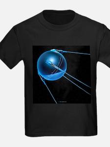 Sputnik 1 satellite - Kid's Dark T-Shirt