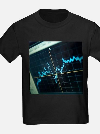 Oscilloscope trace - Kid's Dark T-Shirt