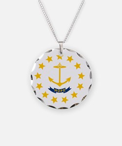 Flag of Rhode Island Necklace