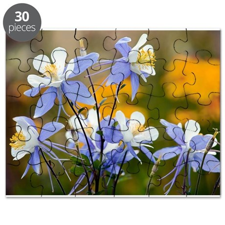 Blue Columbine (Aquilegia coerulea) - Puzzle