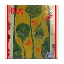 Nicaraguan Alien Heads Tile Coaster