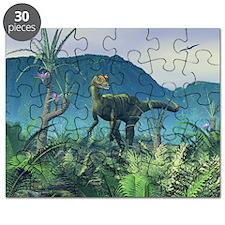 Dilophosaurus, artwork - Puzzle