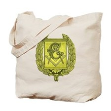 Masonic Gold Emblem Tote Bag