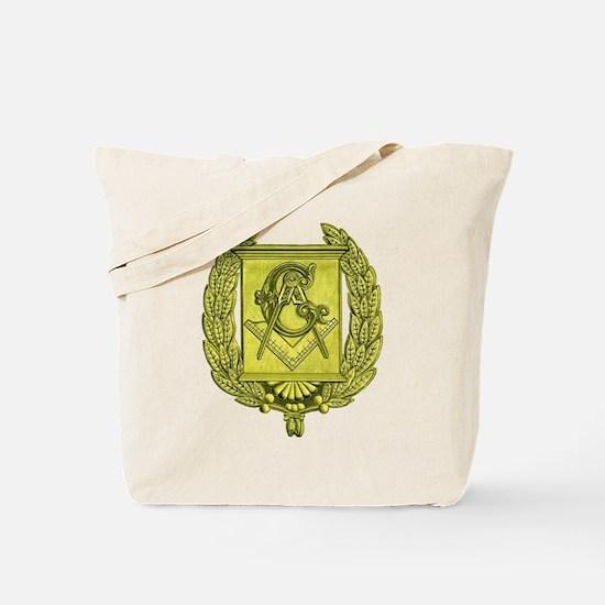 Masonic Gold Emblem Tote Bag