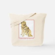 Labrador Retriever Yellow Christmas Tote Bag