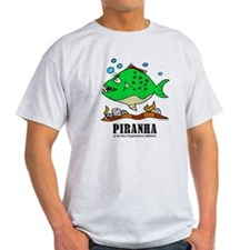 Cartoon Piranha by Lorenzo T-Shirt