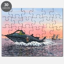 Jules Verne's Nautilus submarine, artwork - Puzzle