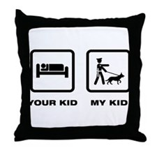 K9 Police Officer Throw Pillow