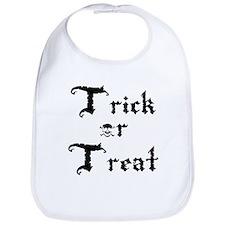 Trick or Treat Jolly Roger Bib