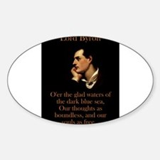 O'er The Glad Waters - Lord Byron Decal
