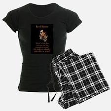 Mark Where His Carnage - Lord Byron Pajamas