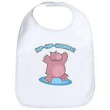 Hip-Hip-Hooray Hippo Bib