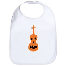 Violin Jack o'Lantern Bib